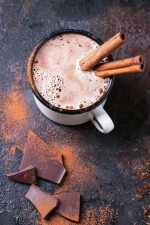 Mexican hot chocolate with tequila/agave spirits and cayenne pepper